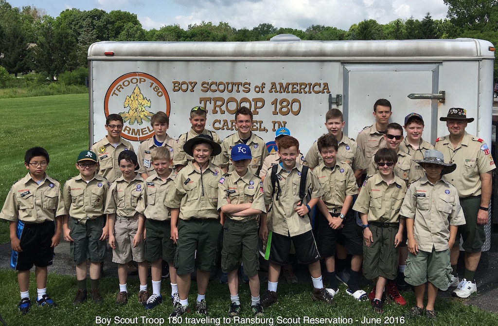 Troop 180 - Ransburg Summer Camp Attendees - June 2016