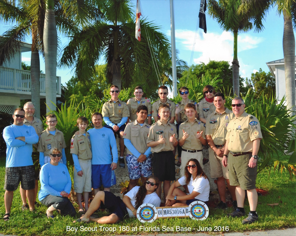 Troop 180 - Florida See Base Attendees - June 2016